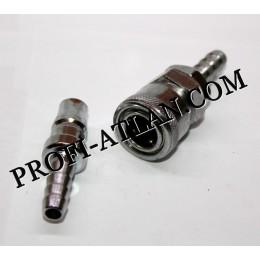 быстросъемное соединение компрессора штуцер-штуцер